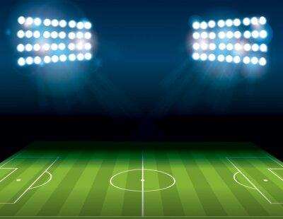 Фотообои Футбол Американский футбол поле с подсветкой Иллюстрация