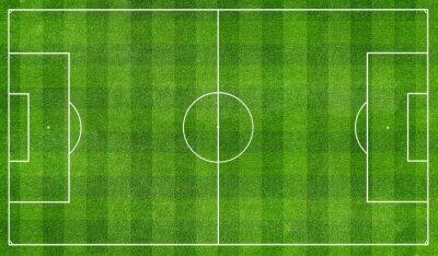 Фотообои football  field top view