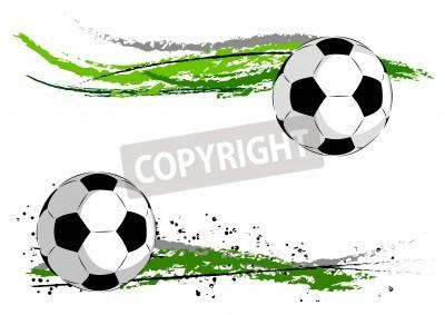 Фотообои Football on the green abstract