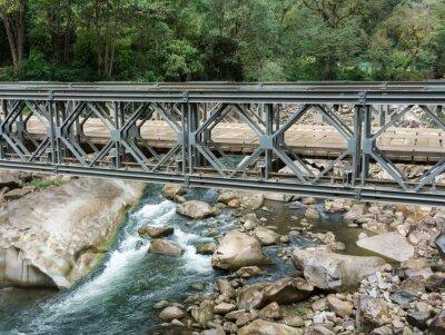 Фотообои Мостик через реку Урубамба, Мачу-Пикчу, Куско область, провинция Урубамба, Machupicchu район, Перу