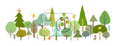 Фотообои лес-
