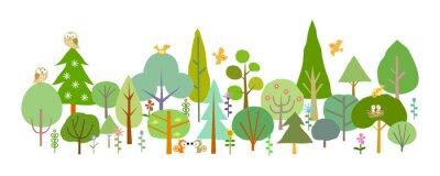 Фотообои лес-D