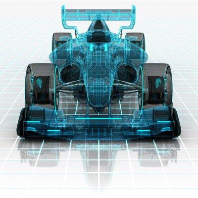 Фотообои Формула технологии каркасного автомобиль эскиз вид спереди