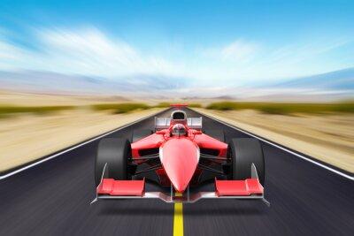 Фотообои Formula race red car
