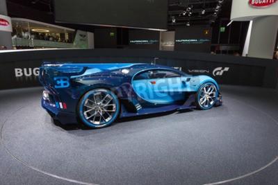 Фотообои Франкфурт, Германия - 15 сентября, 2015: Bugatti Видение Gran Turismo Concept представлен на 66-м Международном автосалоне в Messe Frankfurt