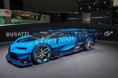 Фотообои Франкфурт, Германия - 16 сентября, 2015: Франкфурт-на международный автосалон (IAA) 2015. Bugatti Видение Gran Turismo - мировая премьера.