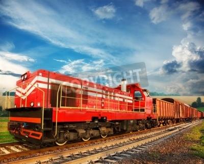 Фотообои Товарный поезд