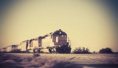 Фотообои Freight train traveling through desert Arizona