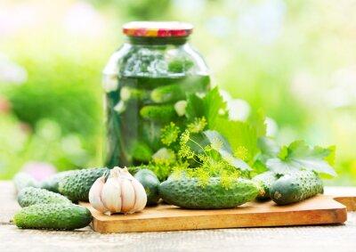 Фотообои fresh and pickled cucumbers