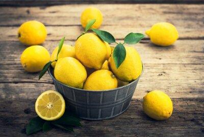 Фотообои Свежие лимоны на деревенском сказке