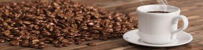Фотообои Свежий чашка кофе с многих кофейных зерен
