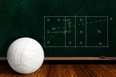Фотообои Игра Концепция С Волейбол и Chalk Board Play Стратегии
