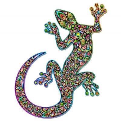 Фотообои Gecko Geko Ящерица Psychedelic Art Design-Джеко Psichedelico