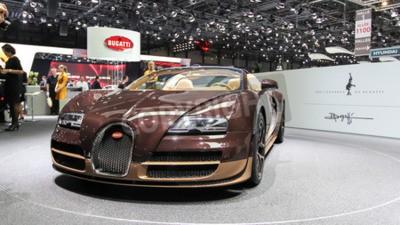 Фотообои Женева, Швейцария - 2 марта, 2014: 2 014 Bugatti Veyron Бугатти представлены Рембрандт на 84-й Международной автосалоне в Женеве