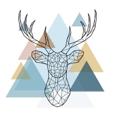 Фотообои Геометрическая голова оленя. Скандинавский стиль