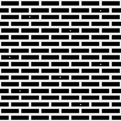 Фотообои Геометрическая простой черно-белый минималистичный рисунок, кирпич. Может использоваться в качестве обоев, фона или текстуры.