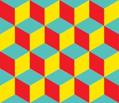 Фотообои Геометрическая фон вектор. Формы куба. Оптическая иллюзия