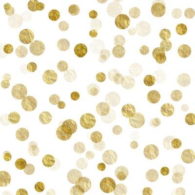 Фотообои Золото Белый Dots Поддельный Фольга металлический фон узор текстуры