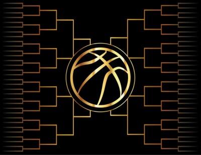 Фотообои Золотой Баскетбол Икона и кронштейн