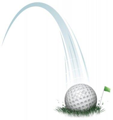 Фотообои мяч для гольфа действий