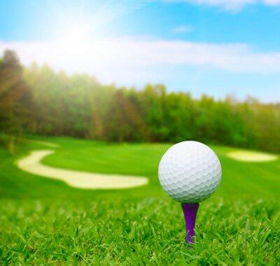 Фотообои Мяч для гольфа на курс