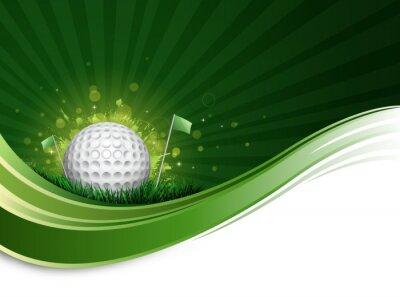 Фотообои мяч для гольфа волна