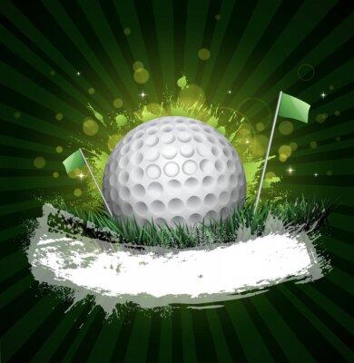 Фотообои гольф баннер