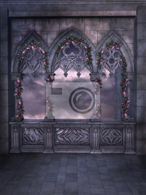 Wandgestaltung Gothic