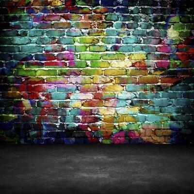 Фотообои граффити кирпичная стена