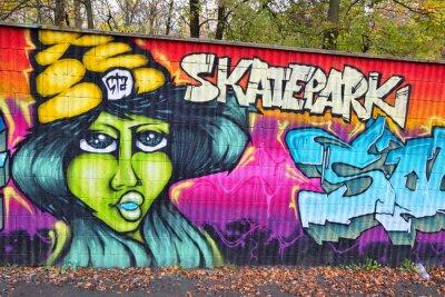 Фотообои Граффити кирпичная стена в Германии
