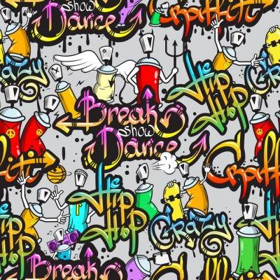 Фотообои Граффити символов бесшовные модели