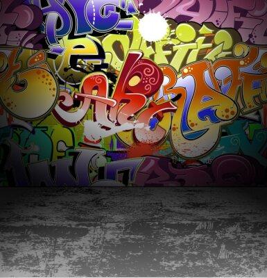 Фотообои Граффити стена городского уличного искусства живописи