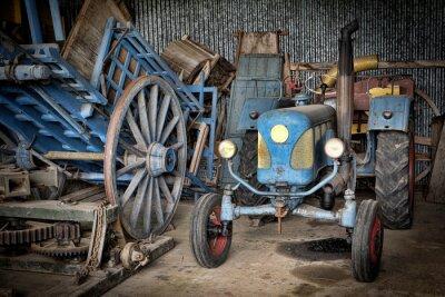 Фотообои гранжа и др Tracteur