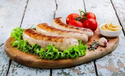 Фотообои Жареные куриные сосиски