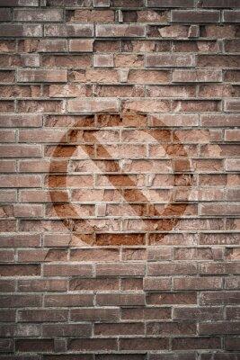 Фотообои Шероховатый городская стена с запрещенным знаком