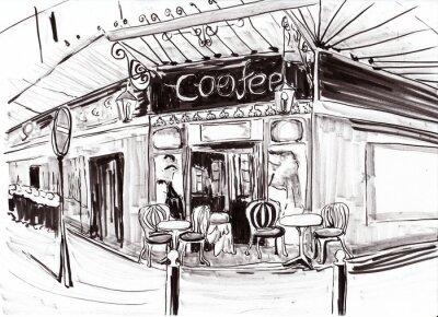 Фотообои Рука ничья париж кафе