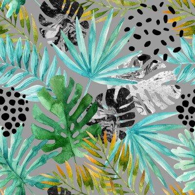 Фотообои Ручной обращается абстрактные тропические лето фон