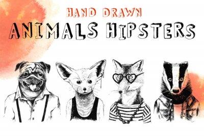 Фотообои Набор для рисования хипстеров