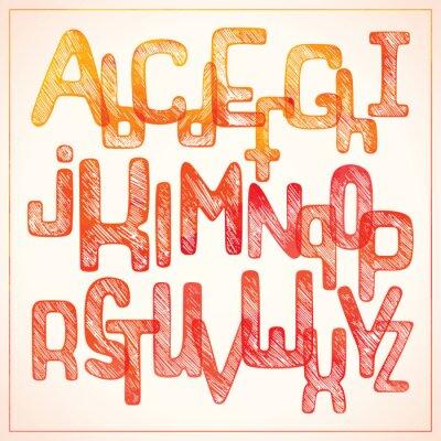 Фотообои Рука письменной форме красный алфавит