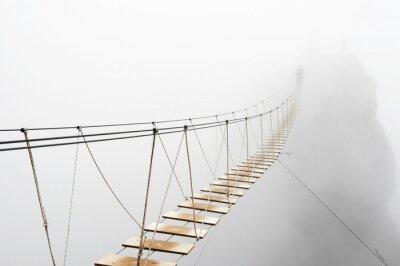 Фотообои Висячий мост в тумане