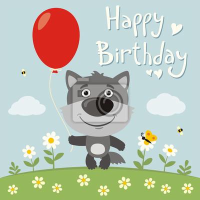Картинка с волком на день рождения