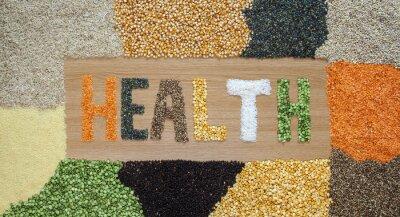 Фотообои Здоровье и здоровой пищи - зерно, семена, бобовые, рис - органические.