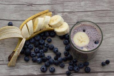 Фотообои Черничный банан молочный коктейль