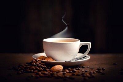 Фотообои горячий, свежий кофе