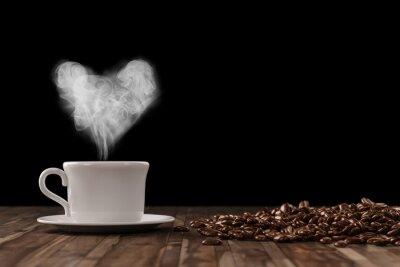 Фотообои Герц AUS Dampf über Tasse Kaffee