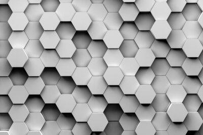 Фотообои Шестиугольник фоны 3d иллюстрации
