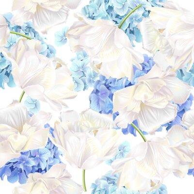 Фотообои Hidrangea тюльпан синий узор