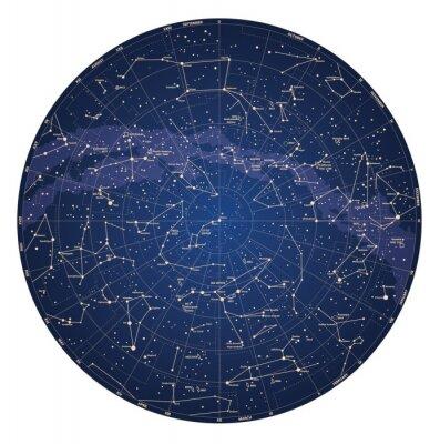 говорит карта звёздного неба над южным полушарием двери