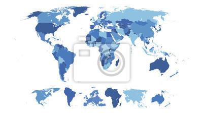 Фотообои Высокая Подробная карта мира