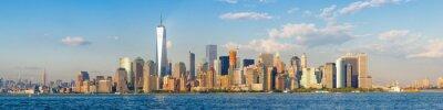 Фотообои Высокое разрешение панорамный вид на центр города Нью-Йорка небоскребов видно из океана